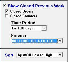 simple to use interface makes finding closed work orders much simpler